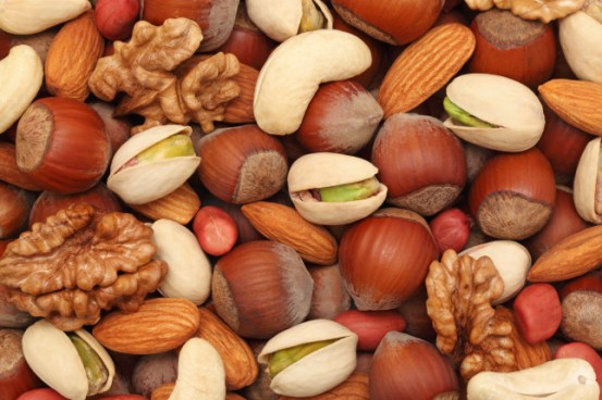 Nuts. Background